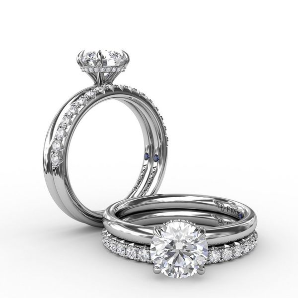 14K Diamond Hidden Halo Engagement Ring Mounting Image 2 Champaign Jewelers Champaign, IL