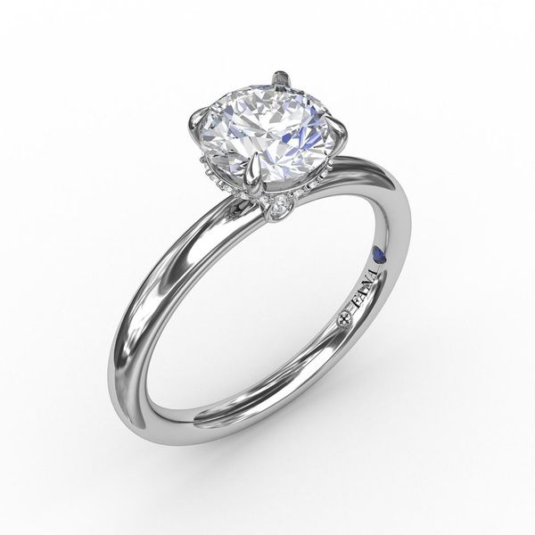 14K Diamond Hidden Halo Engagement Ring Mounting Champaign Jewelers Champaign, IL