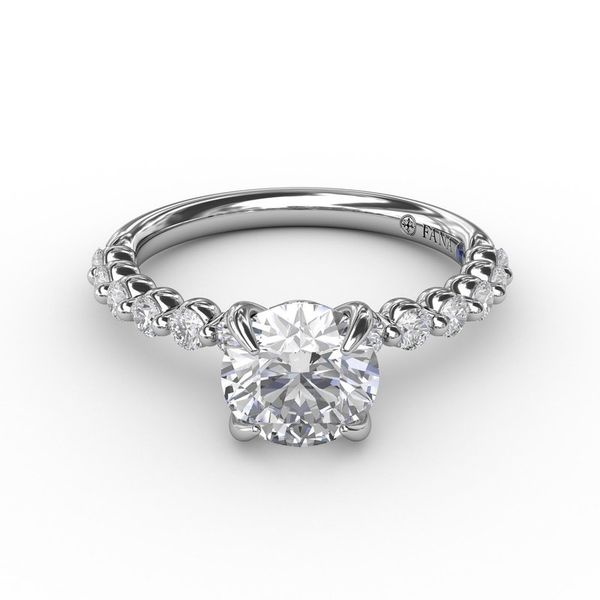 14K Shared Prong Semi-Mount Diamond Engagement Ring Image 2 Champaign Jewelers Champaign, IL