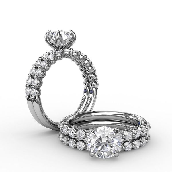 14K Shared Prong Semi-Mount Diamond Engagement Ring Image 3 Champaign Jewelers Champaign, IL
