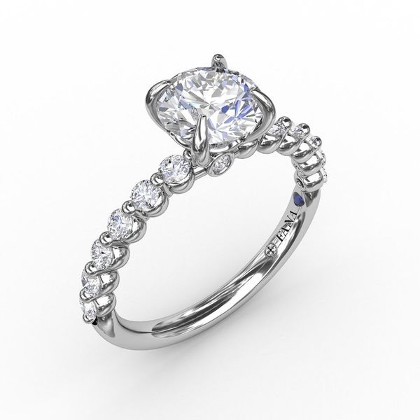14K Shared Prong Semi-Mount Diamond Engagement Ring Champaign Jewelers Champaign, IL