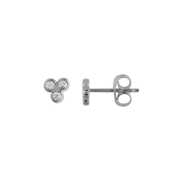 14K Diamond Trinity Stud Earrings Champaign Jewelers Champaign, IL