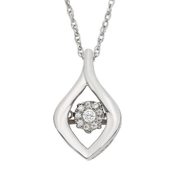 Sterling Silver Cluster Shaky Diamond Pendant Champaign Jewelers Champaign, IL