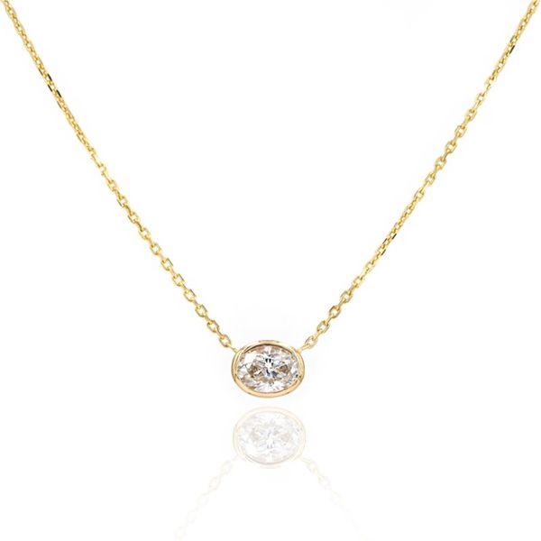 Bezel Station Collection Oval Necklace Champaign Jewelers Champaign, IL