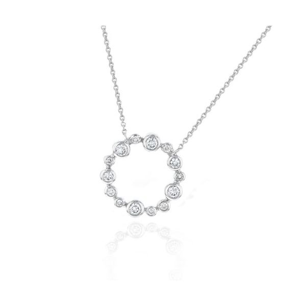 14K Bezel-Set Diamond Circle Necklace Champaign Jewelers Champaign, IL