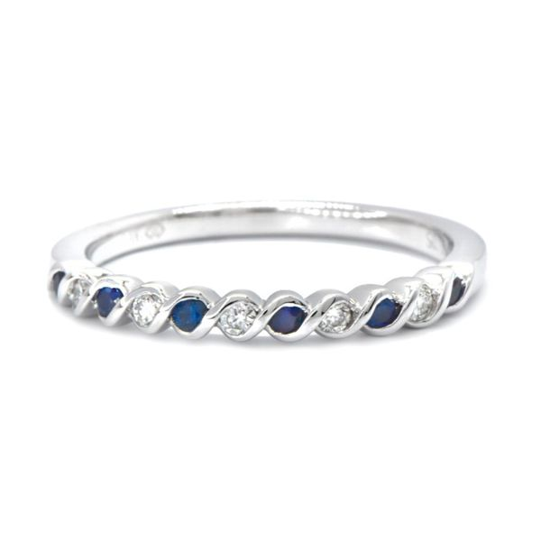 14kw Sapphire & Diamond Stackable Band Champaign Jewelers Champaign, IL