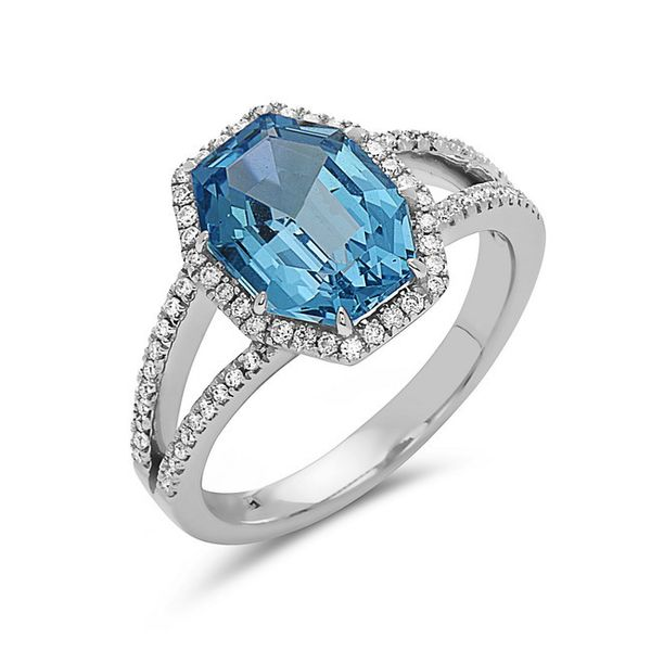 14Kw Fantasy London Blue Topaz & Diamond Ring Champaign Jewelers Champaign, IL