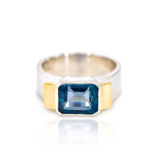 Custom Collection London Blue Topaz Ring Champaign Jewelers Champaign, IL