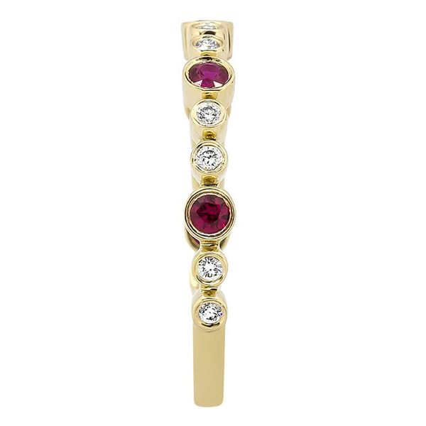 14K Yellow Gold Ruby & Diamond Stackable Band Image 2 Champaign Jewelers Champaign, IL