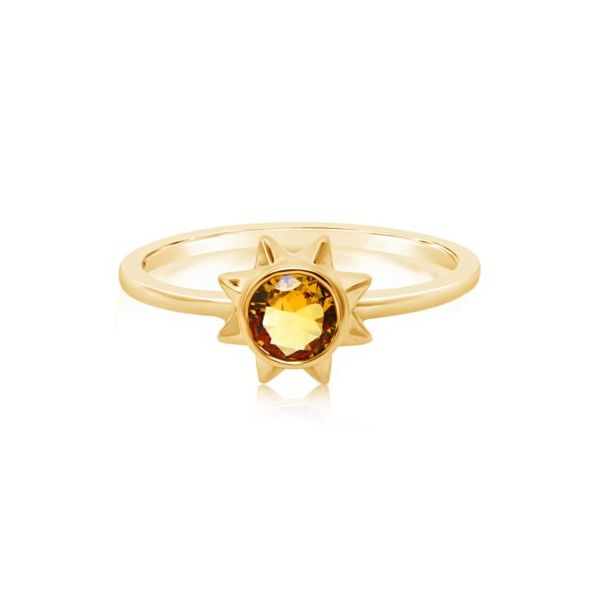 14K Yellow Gold Citrine Sunshine Fashion Ring Champaign Jewelers Champaign, IL