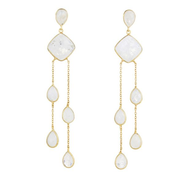 Elyssa Bass Moonstone Chandelier Earrings Champaign Jewelers Champaign, IL