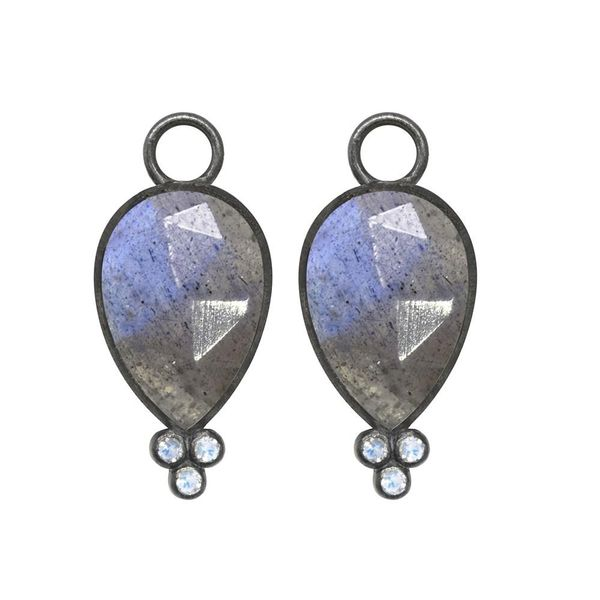 Nina Nguyen Labradorite Silver Earring Charms Champaign Jewelers Champaign, IL
