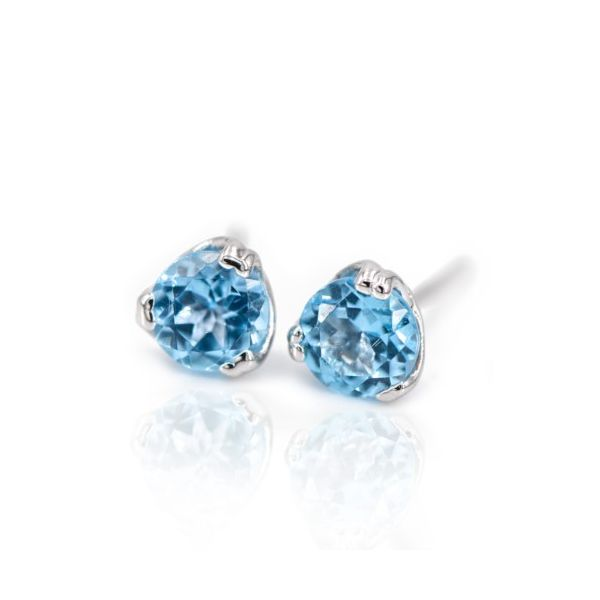 14K Blue Topaz Stud Earring Champaign Jewelers Champaign, IL