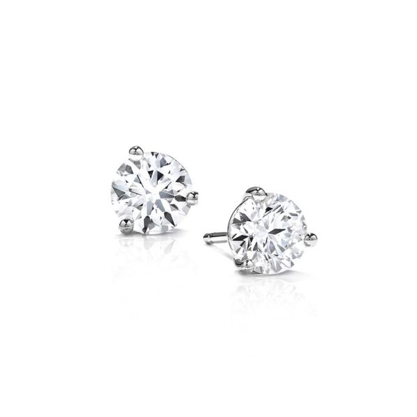 14K Small CZ Martini Stud Earrings Champaign Jewelers Champaign, IL