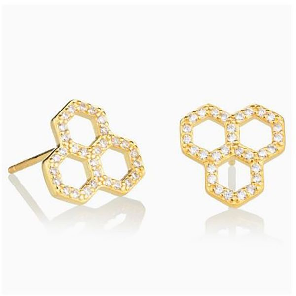 Honeycomb CZ Earrings Champaign Jewelers Champaign, IL