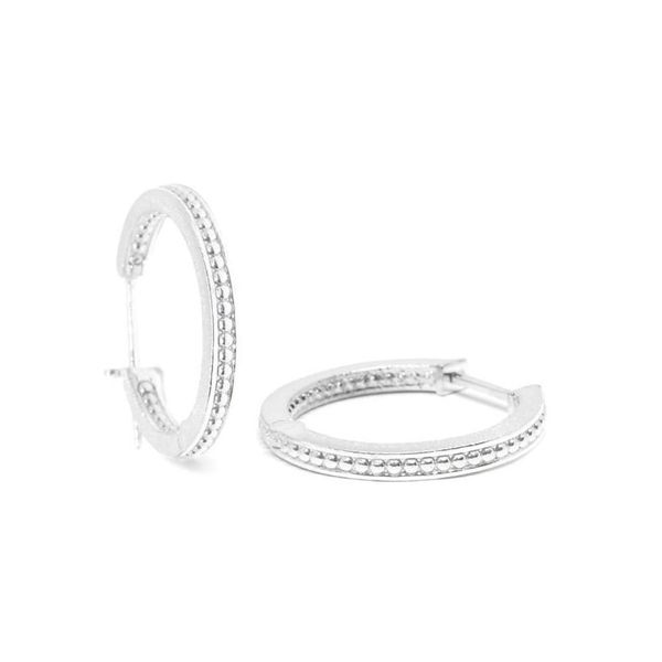 PAGODA 15MM SILVER HOOP EARRINGS Champaign Jewelers Champaign, IL