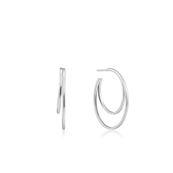 Ania Haie Double Crescent Hoop Earrings Champaign Jewelers Champaign, IL