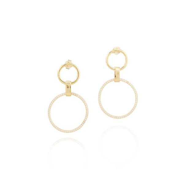 Elyssa Bass Double Circle Earrings Champaign Jewelers Champaign, IL