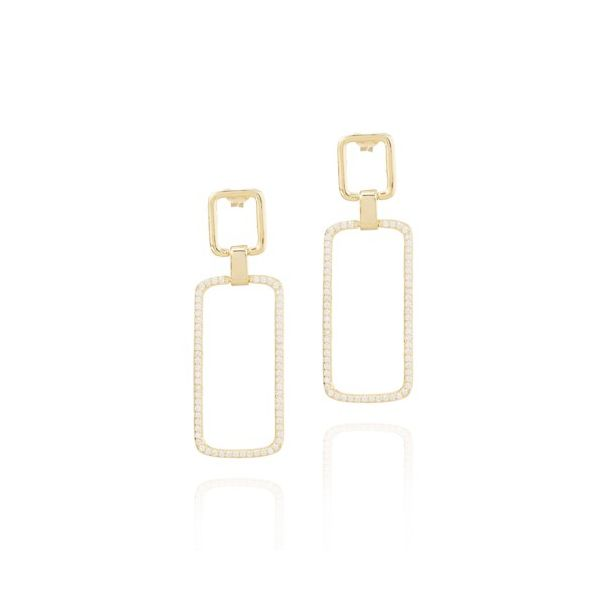 Elyssa Bass Double Rectangle Earrings Champaign Jewelers Champaign, IL