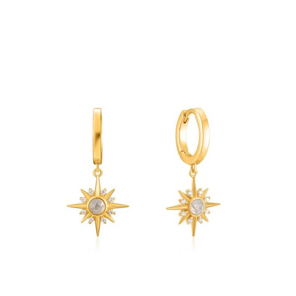 Ania Haie Midnight Star Huggie Hoop Earrings Champaign Jewelers Champaign, IL