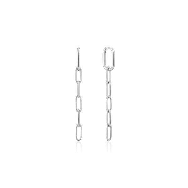 Ania Haie Sterling Silver Cable Link Drop Earrings Champaign Jewelers Champaign, IL