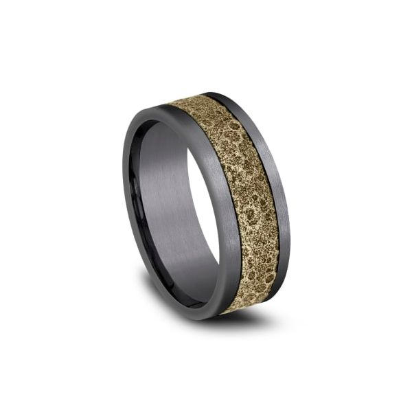 Amarra Tantalum & Bronze Moonrock Wedding Band Image 2 Champaign Jewelers Champaign, IL