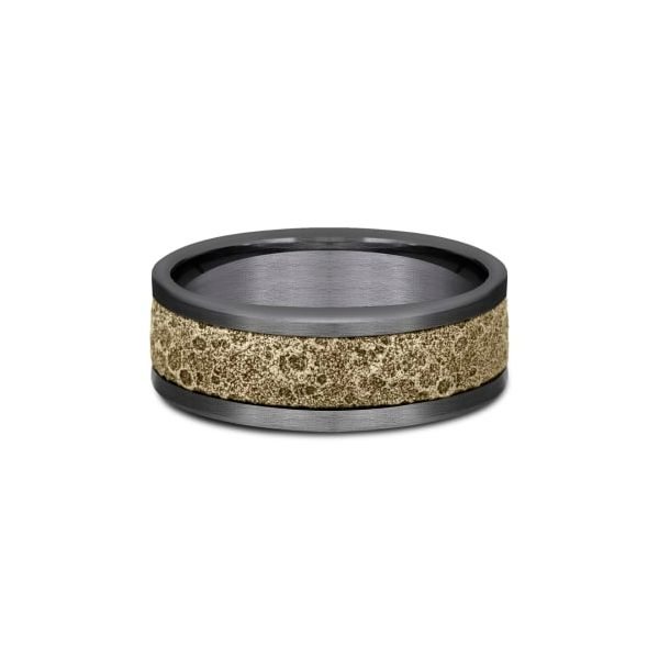 Amarra Tantalum & Bronze Moonrock Wedding Band Image 3 Champaign Jewelers Champaign, IL