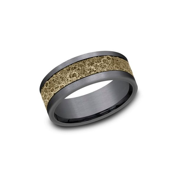 Amarra Tantalum & Bronze Moonrock Wedding Band Champaign Jewelers Champaign, IL