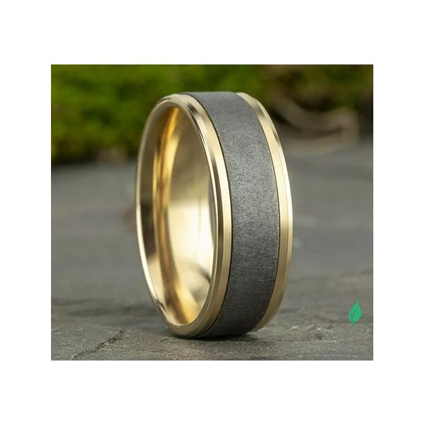 Ammara 14k Yellow Gold & Tantalum Wedding Band Image 3 Champaign Jewelers Champaign, IL