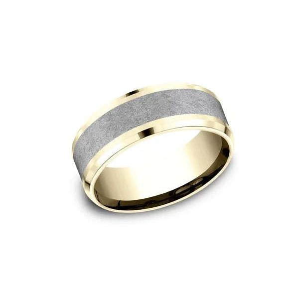 Ammara 14k Yellow Gold & Tantalum Wedding Band Champaign Jewelers Champaign, IL