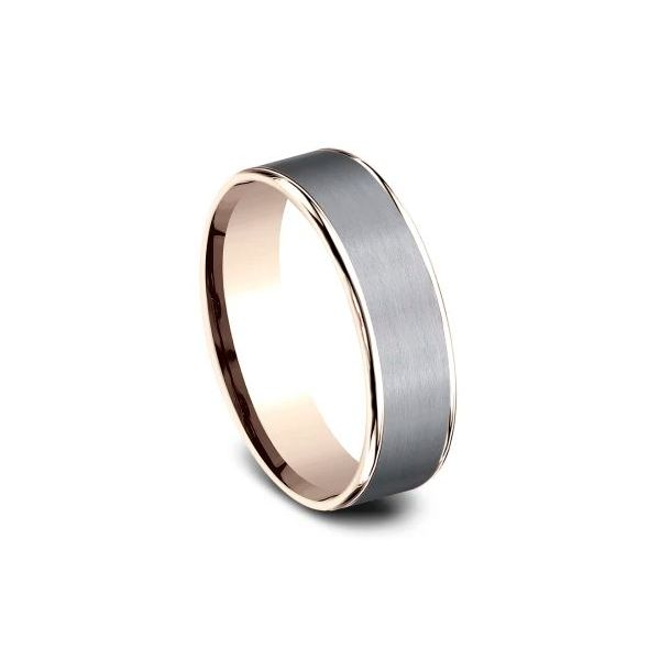 Ammara 14k Rose Gold & Grey Tantalum Wedding Band Image 2 Champaign Jewelers Champaign, IL