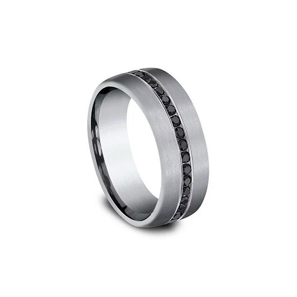 Ammara Tantalum & Black Diamond Wedding Band Image 2 Champaign Jewelers Champaign, IL