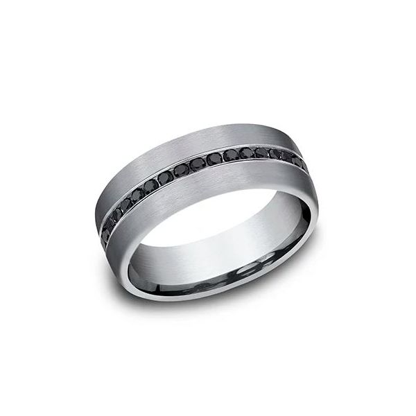 Ammara Tantalum & Black Diamond Wedding Band Champaign Jewelers Champaign, IL