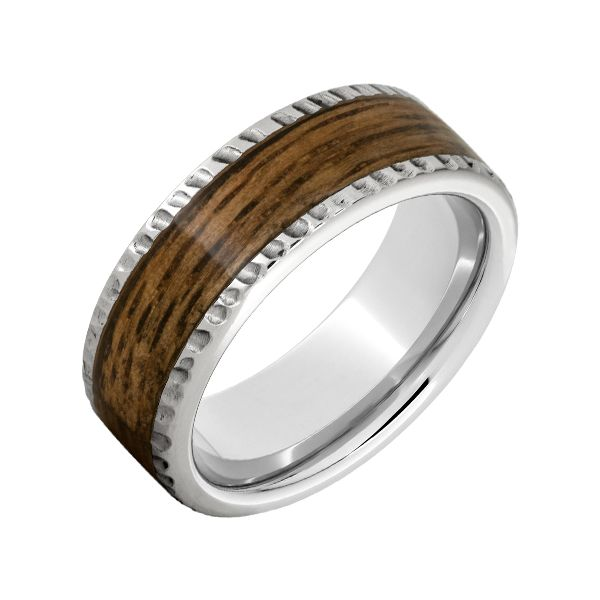 Serinium Band with Bourbon Barrel Inlay Champaign Jewelers Champaign, IL