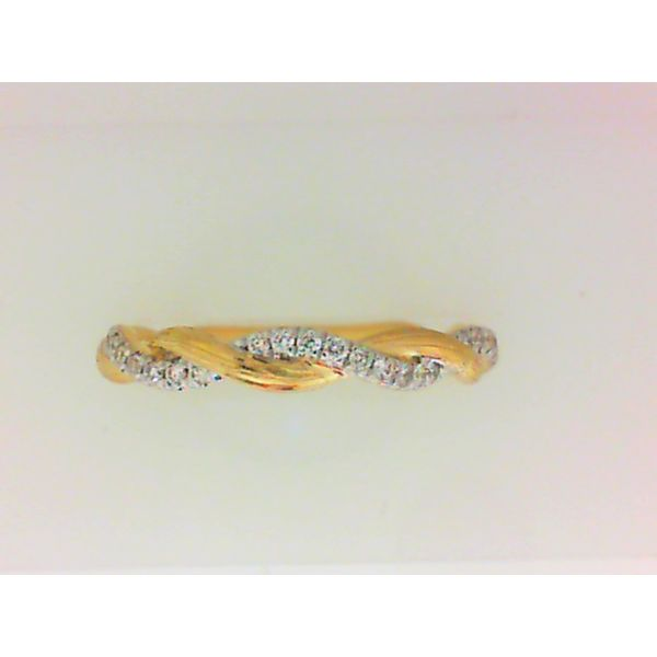 14KY Gold Twisted Diamond Stackable Ring Sz 6.5 Chipper's Jewelry Bonney Lake, WA