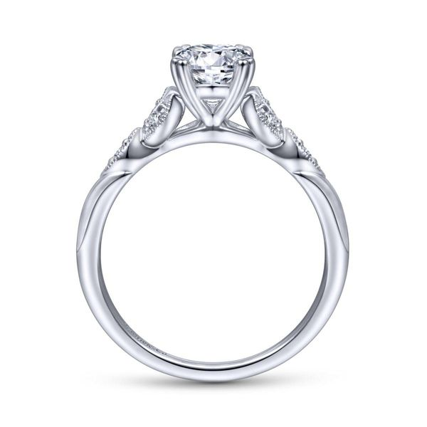 14KW Semi-Mount 2.11ct Oval Cubic Zirconium Ctr Image 2 Chipper's Jewelry Bonney Lake, WA