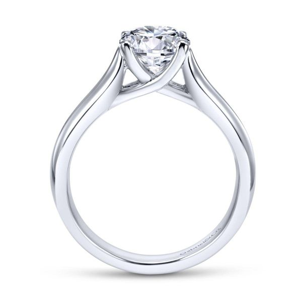 14K White Gold Round Dismond Engagement Ring Size 6.5 Image 2 Chipper's Jewelry Bonney Lake, WA