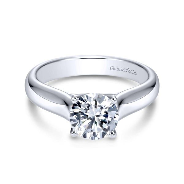 14K White Gold Round Dismond Engagement Ring Size 6.5 Chipper's Jewelry Bonney Lake, WA