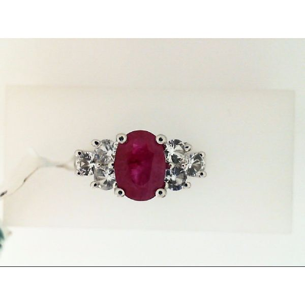 Ruby Ring with Sapphires Chipper's Jewelry Bonney Lake, WA