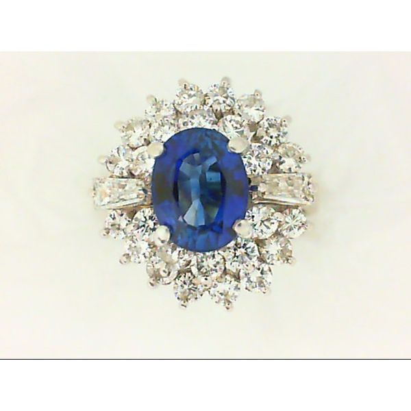 18K White Gold Sapphire Ring Size 4.75 Chipper's Jewelry Bonney Lake, WA