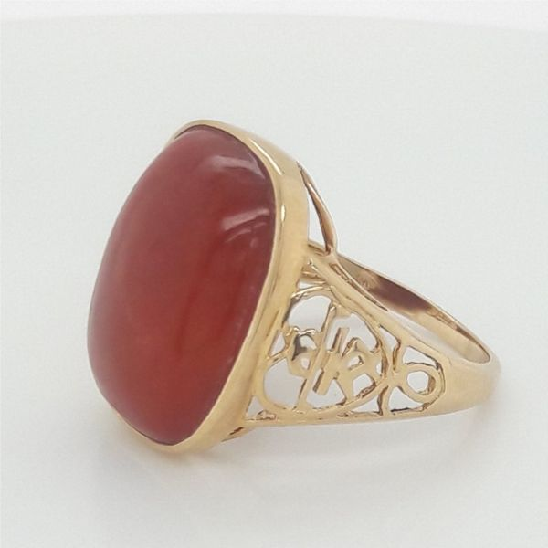 14K Yellow Gold Carnelian Ring Size 7.5 Chipper's Jewelry Bonney Lake, WA