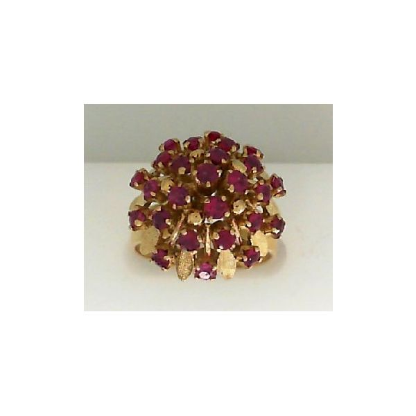 18KY Ruby Cluster Sz 7.25 Chipper's Jewelry Bonney Lake, WA