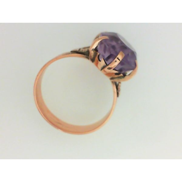 8K Yellow Gold Amethyst Ring Size 6.75 Image 2 Chipper's Jewelry Bonney Lake, WA