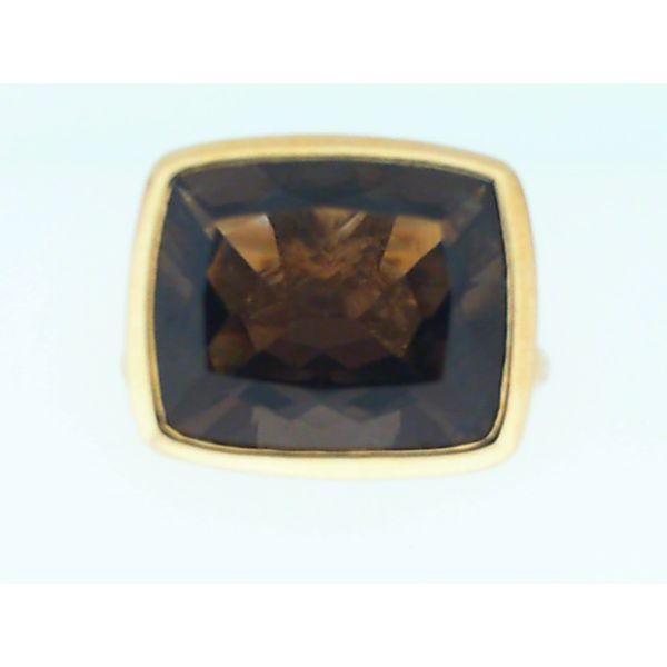 18K Yellow Gold Smoky Quartz Ring, Size 7 Image 3 Chipper's Jewelry Bonney Lake, WA