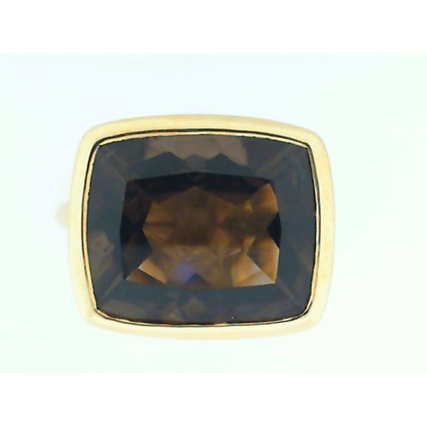 18K Yellow Gold Smoky Quartz Ring, Size 7 Chipper's Jewelry Bonney Lake, WA