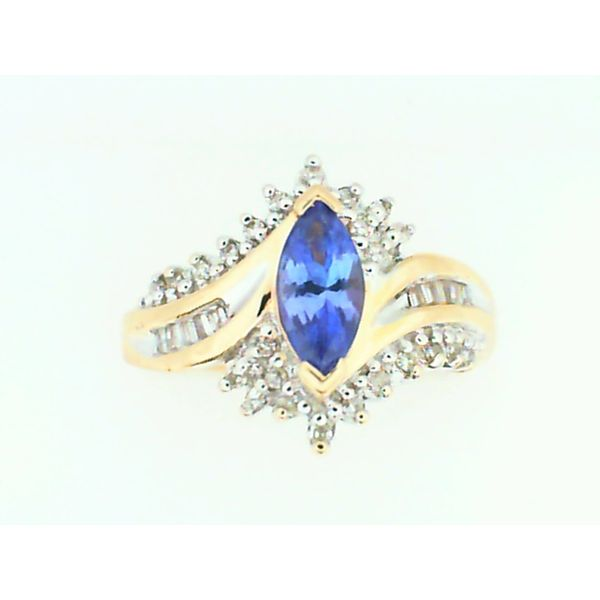 14K Yellow Gold Tanzanite and Diamond Ring, Size 7 Chipper's Jewelry Bonney Lake, WA