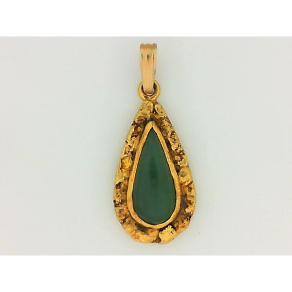 Nephrite Jade and Natural Nugget Pendant Chipper's Jewelry Bonney Lake, WA