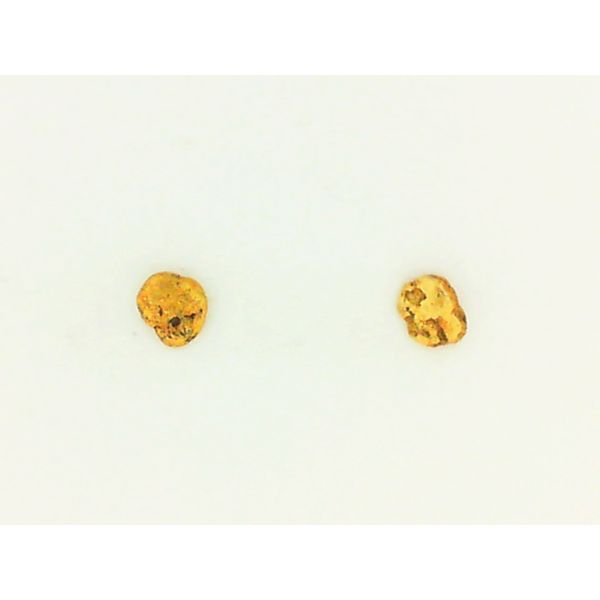 1.2g Natural Nugget Earring Studs Chipper's Jewelry Bonney Lake, WA