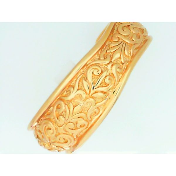 14K Yellow Gold Embossed Cuff Bracelet Chipper's Jewelry Bonney Lake, WA