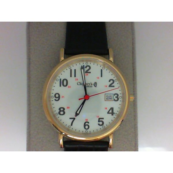 Chipper's Gents Swiss Quartz, 3 ATM (Water Resistant to 100 Feet), Stainless Steel Case, Genuine Sapphire Crystal, Luminous Dial Chipper's Jewelry Bonney Lake, WA